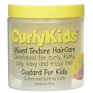 Best Epic Trends 51ERU0SFt7L._SS300_ CurlyKids Mixed Haircare Custard for Kids, Yellow 6 Ounce