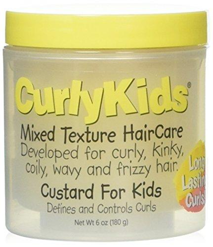 CurlyKids Mixed Haircare Custard for Kids, Yellow, 6 Ounce