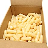 C-711 High Temperature Fast Set Bulk Hot Melt Glue Sticks - 1'' x 3'' - 35 lbs - Tan