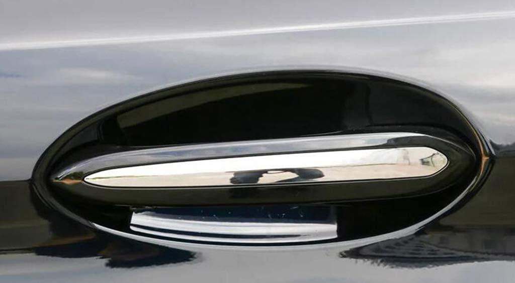 pour 5 s/éries G30 530li 2018 Accessoires de Voiture Garniture de poign/ée de Porte en Plastique ABS Chrome en Plastique ext/érieur Argent polonais pour X4 G02 2018