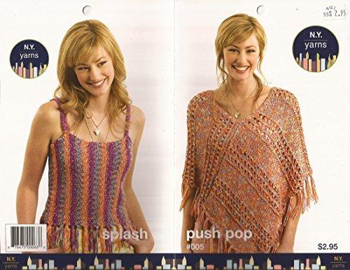 N.Y. Yarns Push Pop & Splash Pattern Leaflet #05 4 Knitting Patterns