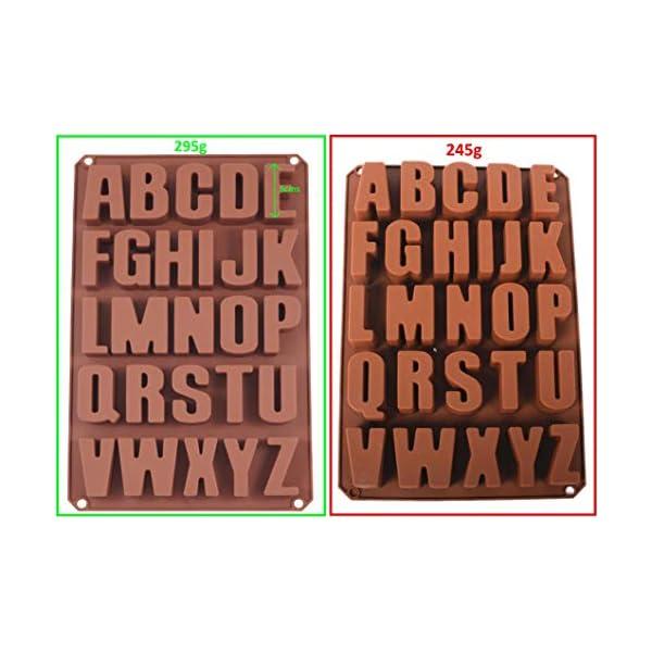 Stampi per dolci, biscotti, 26 lettere dell'alfabeto, estremamente stabili, formine in silicone, per cioccolatini 34 x… 3 spesavip