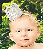 Classy Baby Boy Half 1/2 Year Birthday Gray White Party Mini Crown Cake Smash