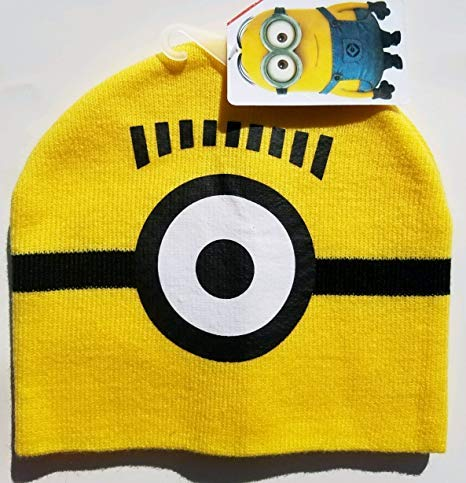Minion one Eye Kids Knit hat]()