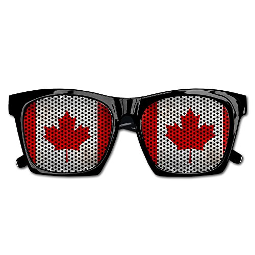 Canadian Flag Fish Unisex Fashion Sunglasses Rim Frame Mesh Lens Sunglasses For Baseball Cycling Fishing Golf - Sunglasses Canadian
