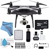 DJI Phantom 4 Pro Obsidian Edition Quadcopter CP.PT.00000018.01 + 32GB microSDHC Card + Deluxe Cleaning Kit + Card Reader + Fibercloth Bundle