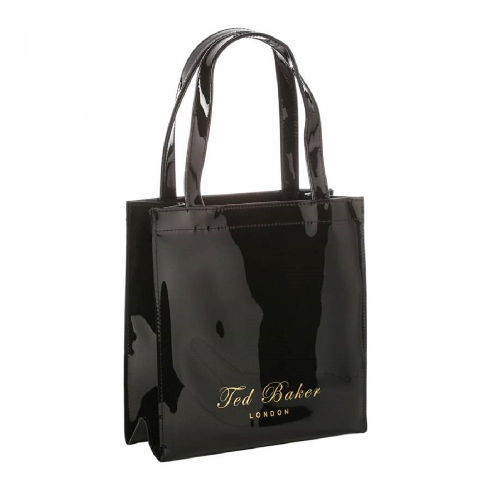 1e12c35fd Buy Ted Baker Small Icon Tote Bag in Black Online at Low Prices in India -  Amazon.in