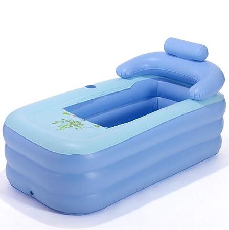 Bañera inflable Para Adultos Bebé Piscina Plegable Bañera,Blue,160 ...