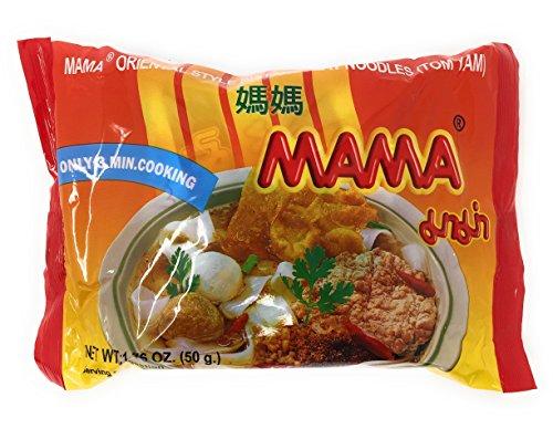 Flat Noodle (Instant Flat Noodle Soup, 1.76 oz. Packets (Set of 10) (Tom Yam))