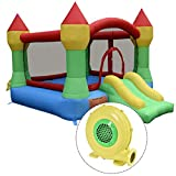 Costzon Inflatable Mighty Bounce House Castle Jumper Moonwalk Bouncer With 480W Blower