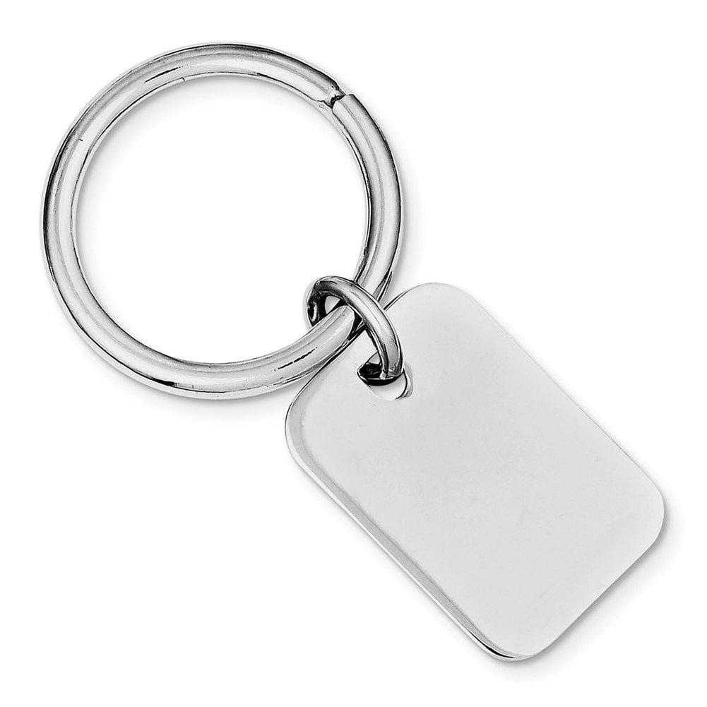 Lex & Lu Sterling Silver w/Rhodium Key Chain LAL116557