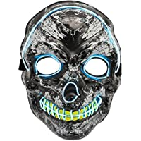 Ylovetoys LED Skull Mask LED Light Up Skull Mask for Festival Novelty and Creepy Cosplay Costume with 3 Modes