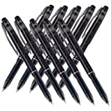 Pilot Frixion Point Erasable Gel Pens, Extra Fine Point,-0.4mm-black Ink-value Set of 10