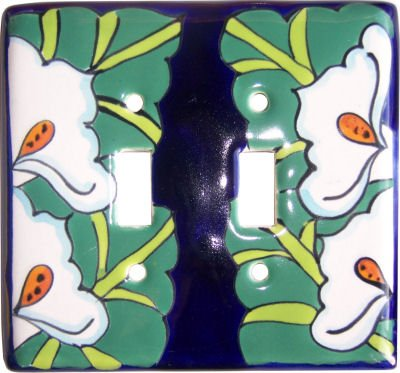 Ceramic Talavera Switch (Lily Talavera Ceramic Double Switch Plate)