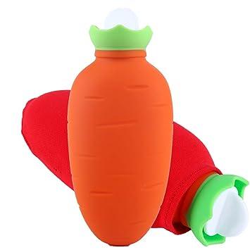 LEOKE Mini botella de agua caliente reutilizable, material de ...