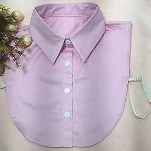 Mujer desmontable solapa camisa falso cuello blusa falsa moda ...