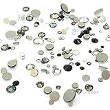 BLACK & WHITE Colors mixed with Swarovski 2058 Xilion / 2088 Xirius Rose flatbacks sizes ss5, ss7, ss9, ss12, ss16, ss20, ss30 No-Hotfix rhinestones nail art 144 pcs (1 gross) *FREE Shipping from Mychobos (Crystal-Wholesale)*