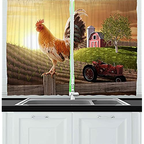 Famous Farmhouse Kitchen Curtains: Amazon.com CS93