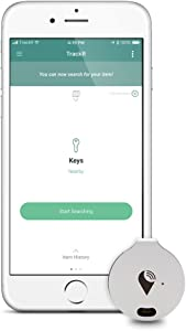 TrackR bravo - Bluetooth Tracking Device. Item Tracker. Phone Finder. iOS/Android Compatible. Generation 3, Silver (2 Pack)