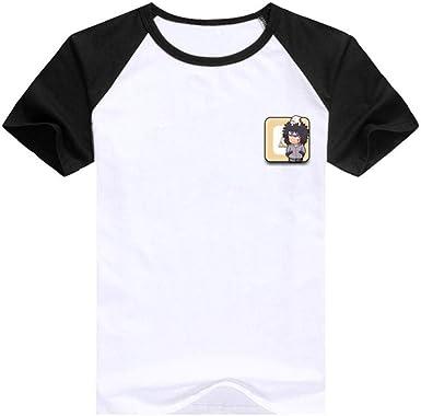 TSHIMEN Camisetas Hombre Inside Naruto 2019 Hot Anime japonés Camiseta Linda Camiseta de impresión de Dibujos Animados Tops Manga Corta Negro: Amazon.es: Ropa y accesorios