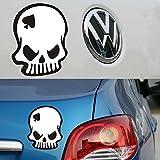 Mini Funny Reflective Spades Skeleton Ghost Rider Skull Decal aauuttto ccaaarr Sticker