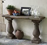 Campania International T-108-AL Vicenza Console Table, Aged Limestone