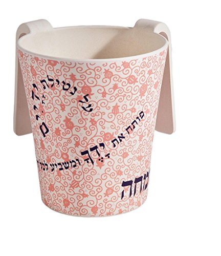 Washing Cup Bamboo Pink Pomegranate Swirl Designed by Yair Emanuel