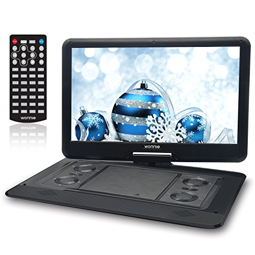 15.6 Inch Portable DVD Player for Car with Games Function for Kids, USB / SD Slot (Black) (Joysticks Dvd)