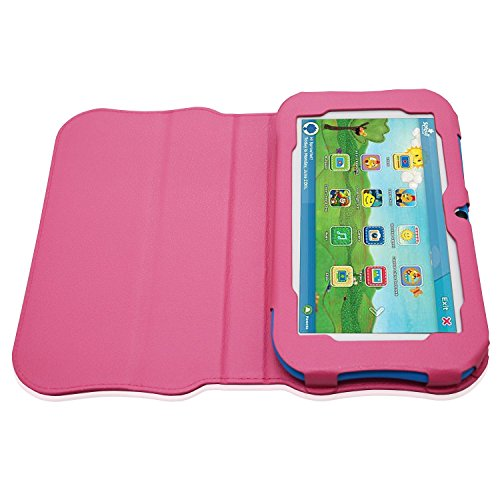 ACdream Sprout Channel Cubby 7 Case, Premium PU Standing Leather Cover Case  for Sprout Channel Cubby 7 inch HD 16GB KidFriendly Tablet, Hot Pink