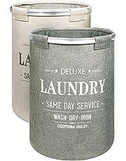 Bamodi Wäschekorb Sortierer - 2er Set Wäschesammler spart Zeit beim Sortieren - Wäschesack - Wäschekörbe - Laundry Baskets - 55 x 40 cm (2 x 60 Liter)
