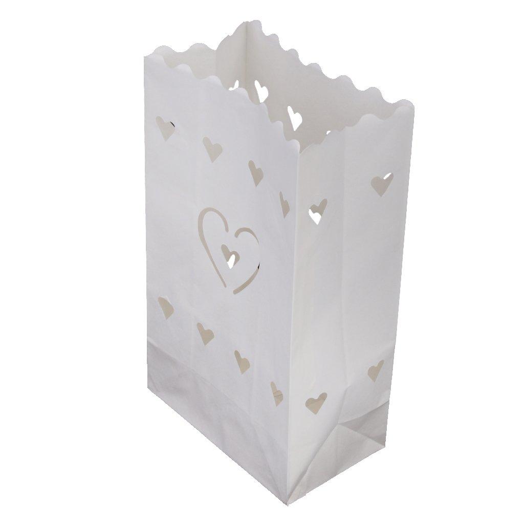 10pcs Sac de Papier Abat-jour de Bougie à LED Décoration de Table Mariage Generic STK0156002118
