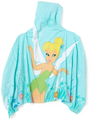Disney Tinkerbell Fiber Reactive Print Ilusionary Hooded Towel
