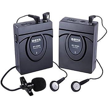 BOYA BY-WM5 Wireless Lavalier Microphone for Canon Nikon Sony DSLR Camera Camcorder Audio Recorder