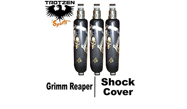 VPS Shock Cover Compatible With Yamaha yfz 450 Graphic Skull Shock Cover