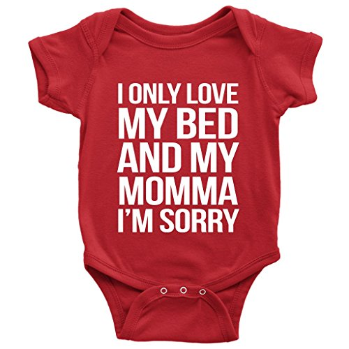Price comparison product image God's Plan Apparel I Only Love My Bed and My Momma I'm Sorry Baby Onesie