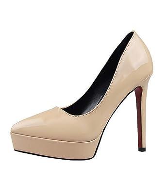7dfd3d299d3e87 Minetom Femme Printemps Été Escarpins Bride Cheville Talon Aiguille 12CM Plateforme  Epais Chaussures Sexy Club Soirée: Amazon.fr: Vêtements et accessoires