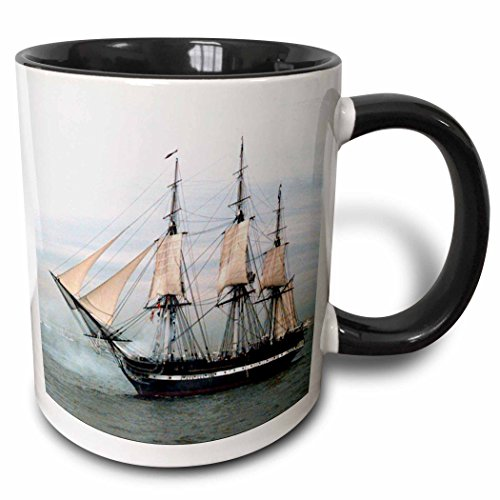 Uss Constitution Pictures (3dRose 3dRose USS Navy Constitution Ship - Two Tone Black Mug, 11oz (mug_38112_4), , Black/White)