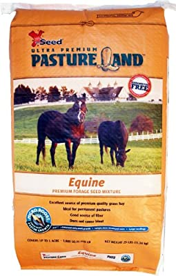 X-Seed Pasture Land Equine Mixture with Micro-Boost Seed, 25-Pound
