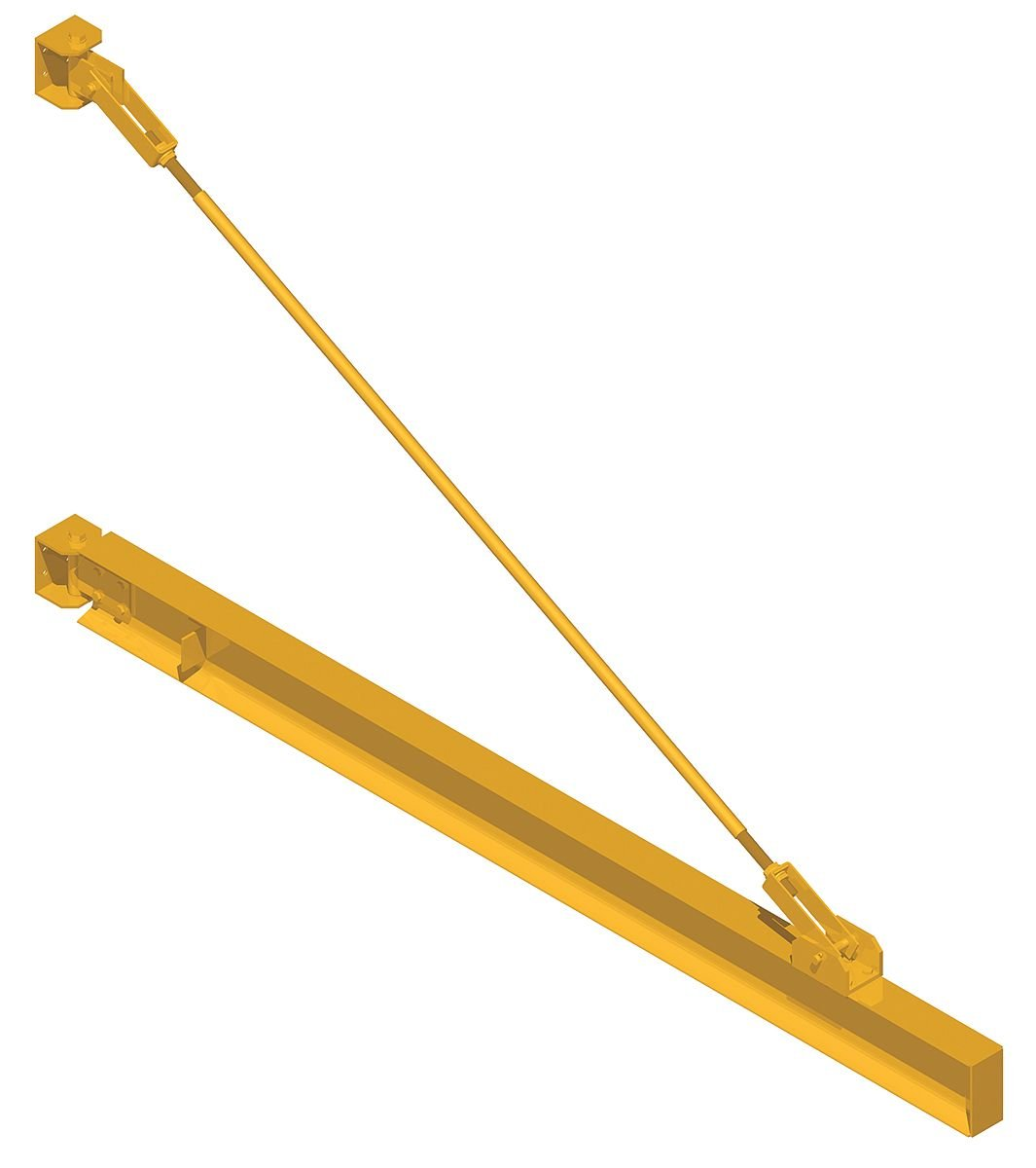 Jib Cap 1000Lb Weight 1251Lb D180-1//2-28 The Caldwell Group Wall Mount