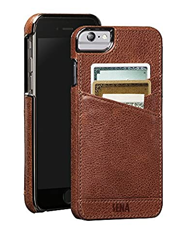 Sena Lugano Wallet ST , Leather Wrapped Card holder snap on case for the iPhone 6 Plus & iPhone 6s Plus - (Snap On Cell Phone Cases)
