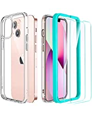 ESR Hybrid Case Compatible with iPhone 13, Includes 2-Pack Tempered-Glass Screen Protectors, Reinforced Drop Protection, Shock-Proof Bumper, Scratch-Resistant Phone Case, Classic Series, Clear