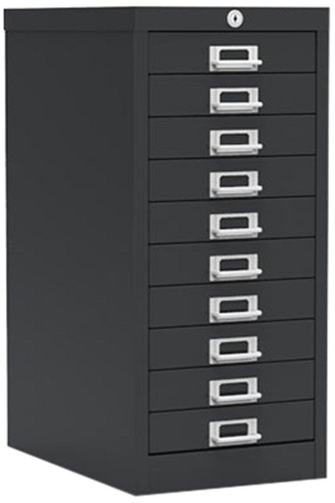 Simply Office MULT10DBLK 10 Drawer Locking Multi-Drawer - Black