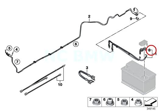 Amazon Com Bmw Genuine Battery Safety Terminal Automotive