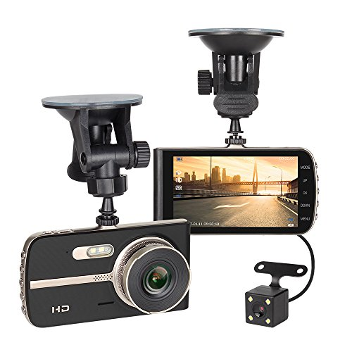 NEX ECDCG01SD-Bk Dash Camera, FHD 1080P 4