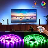Bason Led Strip Lights for 60'-70' HDTV/Wall Mount TV, USB Powered Tv Led Backlight with Remote Control, Led Strips Tv Bias Lighting for Entertainment Center Room Decorations Home Movie Theater.
