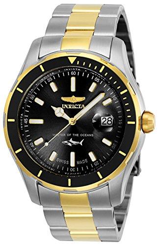 Invicta 25814 Pro Diver Reloj para Hombre acero inoxidable Cuarzo Esfera negro: Amazon.es: Relojes