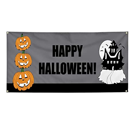 Amazon.com: Cartel de vinilo Happy Halloween. Style U ...