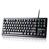 Cheap PAWHITS RGB Mechanical Gaming Keyboard 87 Keys Blue Switches LED Backlit
