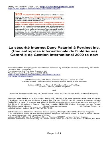 La sécurité internet Dany Patarini à Fortinet