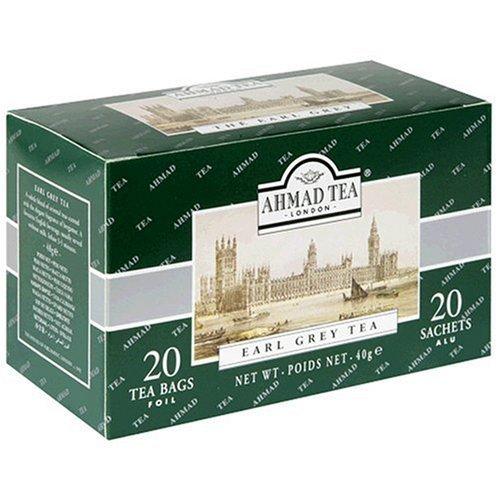Ahmad Tea Earl Grey Tea, Tea Bags, 20-count Boxes